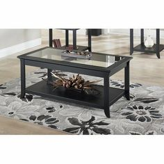 Dartmouth Coffee Table by TECH CRAFT. $264.59. WHERC2448B Features: -Material: Solid birch and wood veneers.-Beautiful beveled glass and elegant.-Extra shelf for added utility.-Accommodate most decors. Warranty: -Warranty: 1 Year.