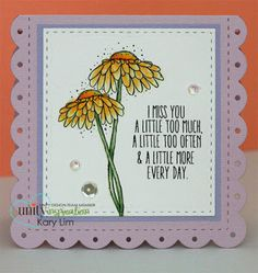 Unity Stamp Company: Stamp of the Week Reminder - Too Much, Too Often Daisies