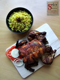Spicy-Aroma: Whole Roasted Chicken recipe, How to make Whole Roasted Tandoori Chicken in Oven