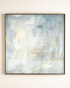 "John-Richard Collection ""Celestial Wanderings"" Giclee Hand-enhanced giclee on canvas. Textures of the original have been rebuilt and highlighted by hand. Hand-finished pine floater frame with graphite-blue interior and glazed, silver metallic exterior. 57""Sq. x 3""D."