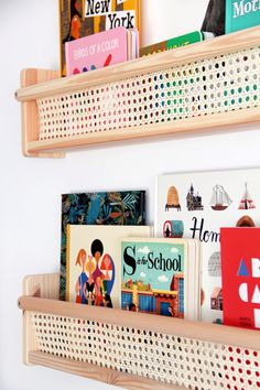 This IKEA Wall Shelves Hack Is As Simple As They Come This IKEA Wall Shelves Hack Is As Simple As They Come,DIY Möbel / Inneneinrichtung Related posts:Couture. Ikea Shelf Hack, Ikea Wall Shelves, Wood Shelves, Bookshelf Diy, Nursery Bookshelf, Ikea Childrens Bookshelf, Bedroom Wall Shelves, House Shelves, Wall Shelving