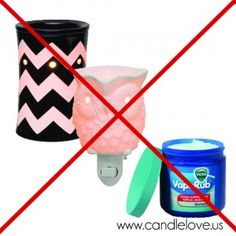 Vicks + Scentsy Warmers = Worst Idea Ever Buy a bar of Just Breathe instead!! Www.carolynsorensen.scentsy.us
