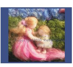 $3.45 'First Steps' image from wool painting