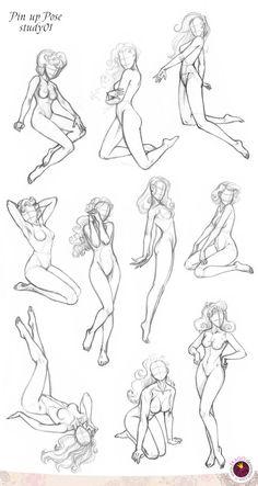 422 Pin up ten Pose study01 by GALEKA-EKAGO.deviantart.com on @deviantART: