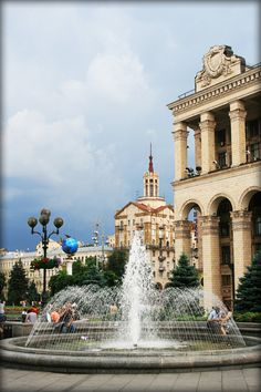 The Independence Square in Kiev, Ukraine