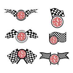 Race Checkered Flag Svg Cuttable Frames