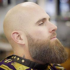 Bald Hair And Beard Styles Bald Men With Beards, Bald With Beard, Beard Fade, Great Beards, Awesome Beards, Full Beard, Faded Beard Styles, Beard Styles For Men, Hair And Beard Styles