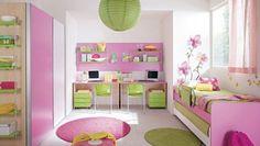 cores decoracao quarto meninas mistura de cores
