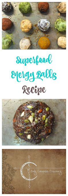 superfood energy balls recipe from Body Compass Discovery Healthy Fruit Desserts, Healthy Snack Options, Healthy Snacks, Healthy Recipes, Healthy Eats, Raw Desserts, Easy Recipes, Vegetarian Recipes, Low Carb Breakfast