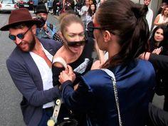 Gigi Hadid se defiende del ataque de Vitalii Sediuk en la Semana de la Moda de Milán