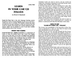 41 best learn italian e books images on pinterest learn italian learn in your car cd italian learn italian a 1 pdf fandeluxe Image collections