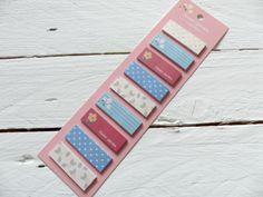 Haftnotizen Memo Notizzettel Bookmarker rosa von frau zwerg auf DaWanda.com 2,70€