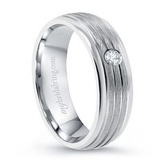 Bazel Diamond Wedding Ring for Men. Mybridalring company provides customized design of Brush Finish Bazel Diamond Wedding Ring. Diamond Tops, Unique Diamond Rings, Diamond Wedding Rings, Wedding Ring For Her, Wedding Men, Wedding Card, Wedding Gifts, Engagement Rings For Men, White Gold Wedding Bands