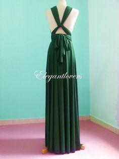 Dark Olive Wedding Dress Bridesmaids Dress by Elegantlovers