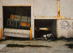 urban landscape paintings by Stephanie Buer