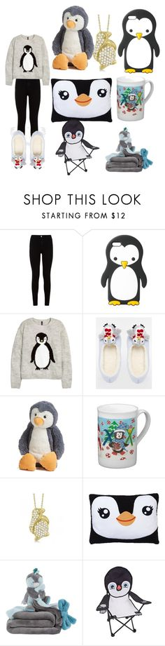 """""""Penguin Love"""" by swagger652 ❤ liked on Polyvore featuring 7 For All Mankind, MANGO, H&M, ASOS, Jellycat, Allurez and Pacific Play Tents"""