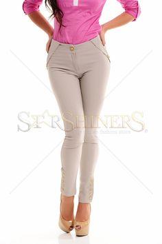 PrettyGirl Clear Grey Trousers