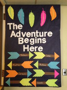 Classroom door bulletin board decor tribal the adventure begins here