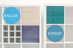 Die #Regaleinsätze, die ins #Expedit passen, passen auch in das #Kallax #Regal und umgekehrt.