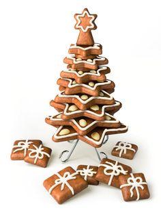 ¡Delicioso árbol de galletas! Encuentra más ideas de arboles comestibles en http://www.1001consejos.com/arboles-de-navidad-comestibles