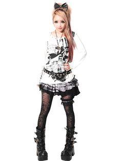 SPIRAL WEIRD Cutsew | CDJapan. See more at http://www.cdjapan.co.jp/apparel/sexpot.html #punk #japanesefashion
