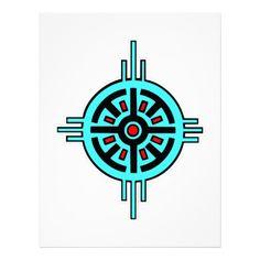 Native American Art Designs   Native American Indian Art #013 Letterhead Design