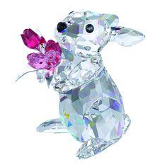 Swarovski crystal rabbit figurine Mother's Day
