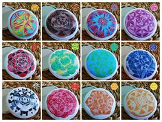 Mandalová zrcátka Mandala Design, Magnets, Buttons, The Originals, Tableware, Dinnerware, Tablewares, Dishes, Place Settings