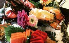 Restaurante japonés Kawua Sashimi variado con bogavante