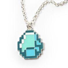 Minecraft Diamond Pendant Halskæde