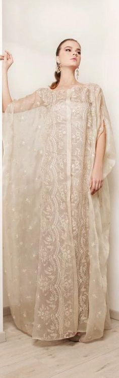 Rami kadi wedding dresses bridal 2012 collection - Embroidered abaya bridal kaftan rami kadi 2012
