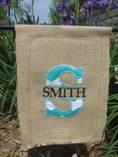 12x16 Burlap Garden Flag by KisstheFrogBoutique on Etsy, $15.00