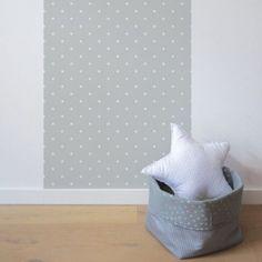d coration chambre enfant l de papier peint intiss nuages toiles blanc wallpaper baby. Black Bedroom Furniture Sets. Home Design Ideas