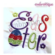 Easter Word Block - 3 Sizes! | Easter | Machine Embroidery Designs | SWAKembroidery.com Embroitique