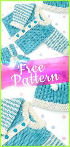 Newborn Crochet Layette [CROCHET FREE PATTERN] #crochetfreepattern #freecrochet #crochet2 #pattern #jobcrochet #croche #howtocroche