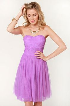 Sugarplum Fairy Strapless Lavender, not a huge fan of the color but I love the style of this.