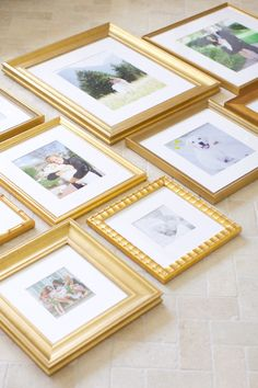 At Home with Framebridge. - Pink Peonies by Rach Parcell Bedroom Frames, Bedroom Decor, Wall Decor, Diy Photo Frame Cardboard, Picture Frame Arrangements, Gold Frame Wall, Building A New Home, Inspiration Wall, Minimalist Decor