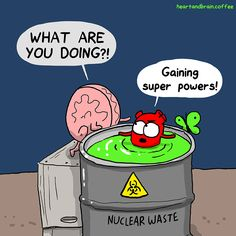 The Awkward Yeti [official] Akward Yeti, The Awkward Yeti, Cute Comics, Funny Comics, Heart And Brain Comic, Funny Memes, Hilarious, Science Humor, Belly Laughs