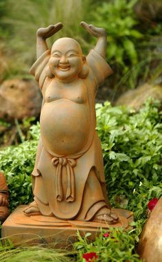 Image detail for -Perfect Beauty for Your Garden - Buddha Statues - Sculptures and Wood . I love happy Buddha! Tattoo Oriental, Little Buddha, Buddha Zen, Baby Buddha, Art Asiatique, Garden Statues, Yard Art, Feng Shui, Whimsical