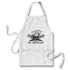 Skull Baker: Whats cookin good lookin apron for the chef who likes to flirt.