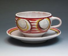 Alan Caiger-Smith Aldermaston Pottery Cup and Saucer by MugsMostly