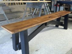 Made a bench to go with table