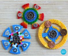 Make your own Fidget Spinners with Fuse Beads by Wendy Copley for Alphamom.com