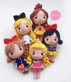 Бесплатный мастер-класс по вязанию маленьких кукол  в образе принцесс знаменитых мультфильмов Дисней. Автор схемы вязаных игрушек: jib_soya. Изменяя п…