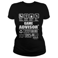 GAME ADVISOR TSHIRT HOODIE #gift #ideas #Popular #Everything #Videos #Shop #Animals #pets #Architecture #Art #Cars #motorcycles #Celebrities #DIY #crafts #Design #Education #Entertainment #Food #drink #Gardening #Geek #Hair #beauty #Health #fitness #History #Holidays #events #Home decor #Humor #Illustrations #posters #Kids #parenting #Men #Outdoors #Photography #Products #Quotes #Science #nature #Sports #Tattoos #Technology #Travel #Weddings #Women #outdoordiygames