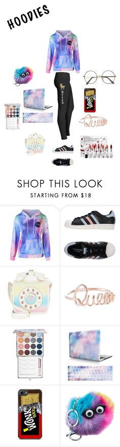 """Cool😎 Hoodie😻"" by tristadavis10 on Polyvore featuring adidas Originals, Betsey Johnson, Smashbox and Hoodies"