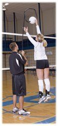 Tandem Sport Spike Trainer Volleyball Training Device by Tandem. $78.27. The Tandem volleyball spike trainer holds the ball securely in place while the attacker develops form and hitting techniques. The Spike Trainer can easily be uses at camps, clinics and practices at all levels.