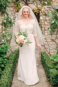 Classic bridal beauty in illusion sleeved wedding dress: http://www.stylemepretty.com/little-black-book-blog/2015/11/24/fresh-classic-ireland-wedding/   Photography: Amanda Crean - http://amandacrean.com/