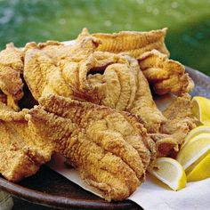 Southern Cooking ~ Cock Of The Walk (Jackson, Mississippi) Fried Catfish recipe Pan Fried Catfish, Fried Catfish Recipes, Fried Fish, Fish Fry, Cooking Catfish, Southern Fried Catfish, Catfish Feed, Fried Chicken, Fish Dishes