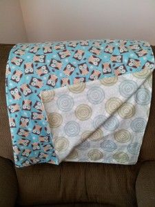 Cute Flannel Blanket with owls